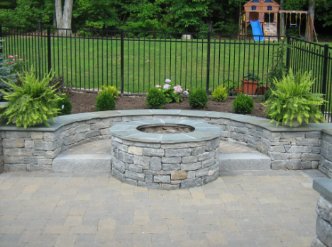 Choose Natural Stones When You Are Going to Create Fire Features in the Garden