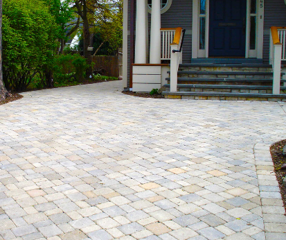 Driveway with Cobblestones