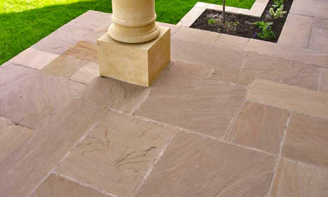 Limestone in Patio