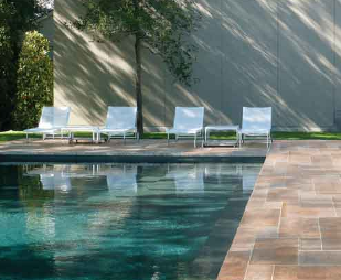 Limestone in Swimming Pool