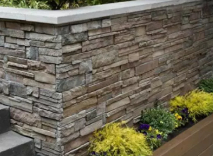 Outdoor stacked wall cladding