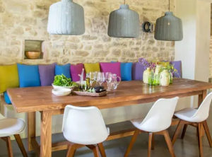 Stone Wall Cladding In Dining Room