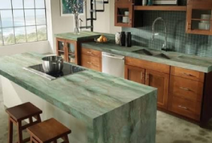 Green Marble in Countertops Applications