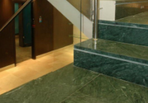 Green Marble in Stairs Applications