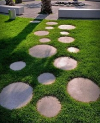 Garden Round Stepping Stones Material