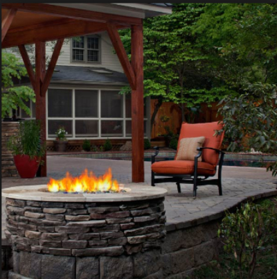Natural Stone Fire Feature in Your Backyard Exterior Spaces