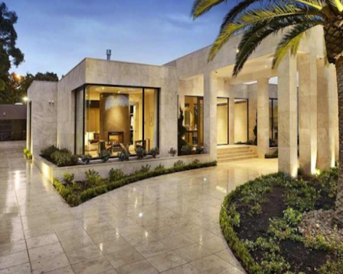 Exterior with Luxurious Marble Stones