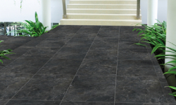 Black Granite Stones in Patio Paving
