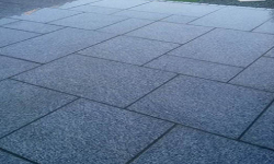 Blue Granite Stones in Patio Paving