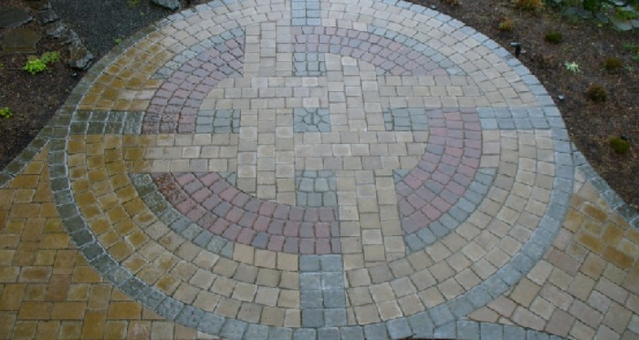 Geometric-Designs-in-Natural-Stone-Paving-Patio Natural Fire Pit Ideas Backyard on backyard tree house ideas, backyard picnic area ideas, backyard grill ideas, backyard pond ideas, backyard gazebo ideas, backyard water ideas, backyard swing ideas, backyard clubhouse ideas, backyard garden ideas, backyard hot tub ideas, backyard gym ideas, backyard furniture ideas, backyard stone ideas, backyard horseshoe pit ideas, backyard sport court ideas, backyard fire ring ideas, backyard outdoor shower ideas, backyard beach ideas, backyard lighting ideas, backyard gas fire pits,