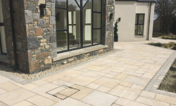 Gold Granite Stones in Patio Paving