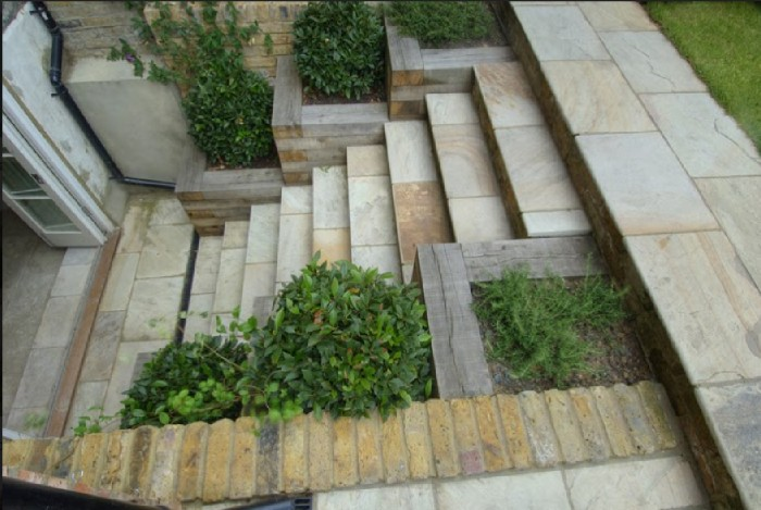 Line Stone Stairs