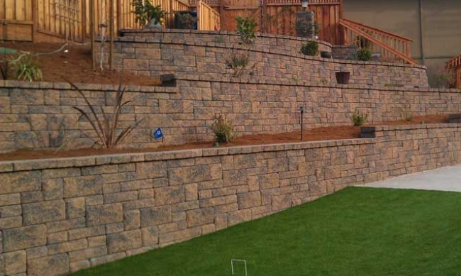 Multi-Tiered Landscape Retaining Wall