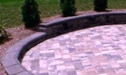 Pink Granite Stones in Patio Paving
