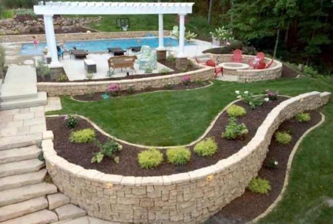 Pool & Patio Stone with Walls