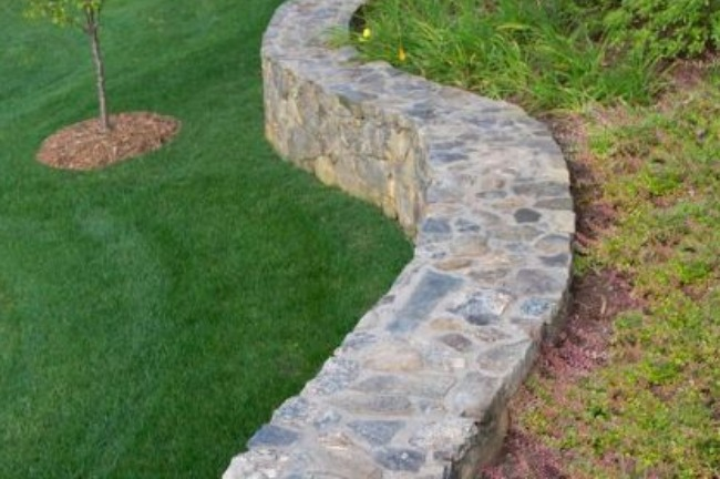 Retaining Wall as a Thick Barrier in Landscape Design