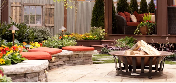 Rock Walls as Patio Seating