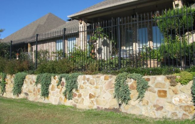 Wrought Iron Fence on Boundary Wall