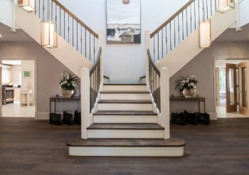 Bifurcate or Split Natural Stone Staircase