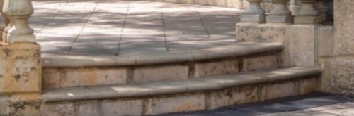 Curved Natural Stone Stairs