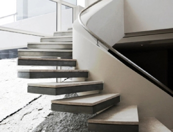 Floating Natural Stone Staircase