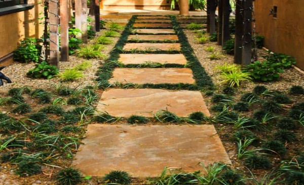 Square Sandstone in Stepping Stone Path