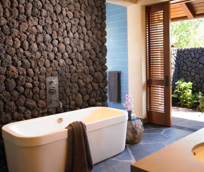 Natural Stone Texture on Interior & Exterior Walls