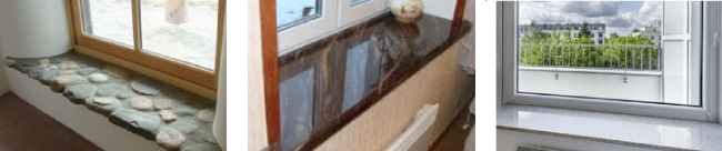 Natural Stone Texture on Window Sills