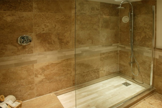 Sandstone as Bathroom Tiles