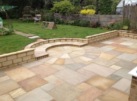 Sandstone in Outdoor Patio