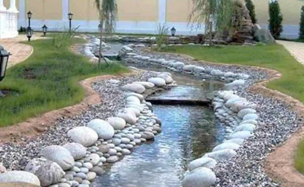 creation of Water Stream in your landscape