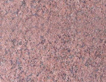 Flamed stone surface