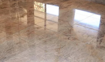 Polished surface texture
