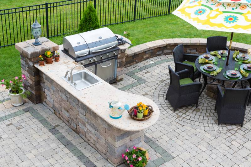 outdoor kitchen with latest design