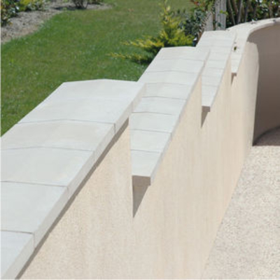 Man-made Stone in Wall Coping