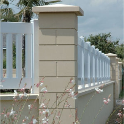 Manufactured Stone in Stone Pillar for Fence