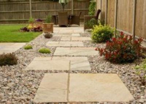 Sandstone Is an Excellent Stepping Stone Material