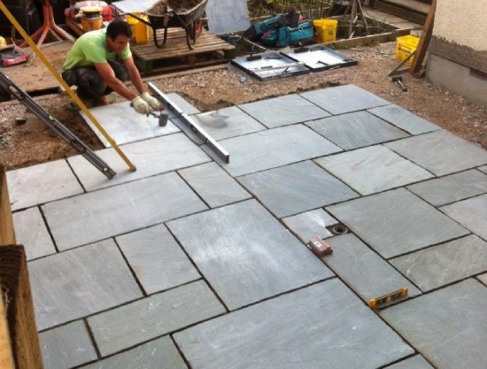 _Sandstone in Patio Makeover