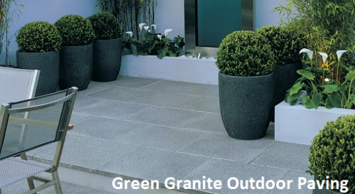 Exterior Paving with Green Granite