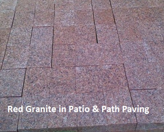 Exterior Paving with Red Granite