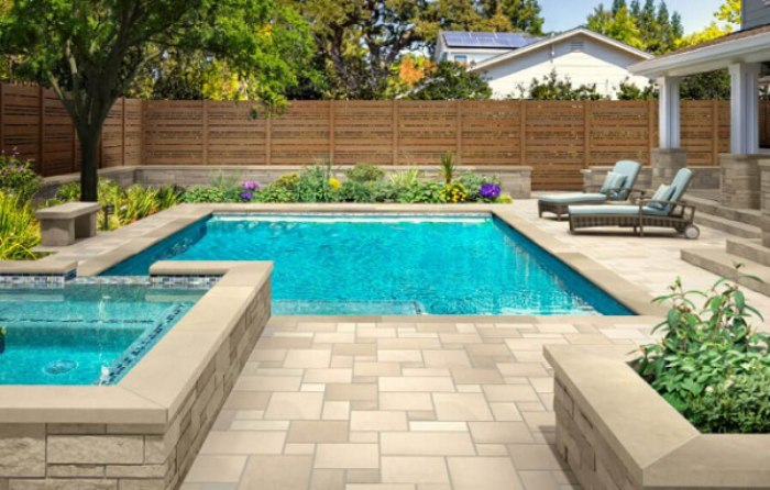 feature - Limestone for Natural Stone Pool Deck