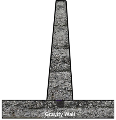Gravity Wall Concrete