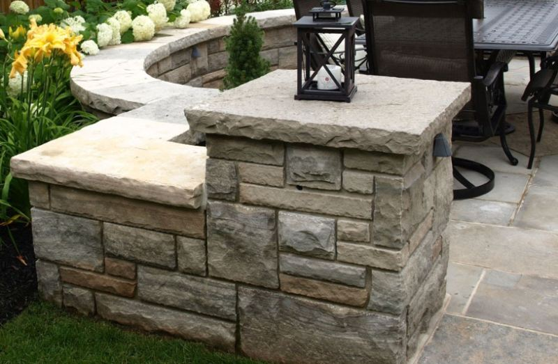 Natural Stone Edge Wall