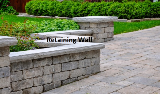 boundaries retaining wall