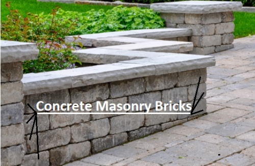 Concrete Masonry Wall Bricks