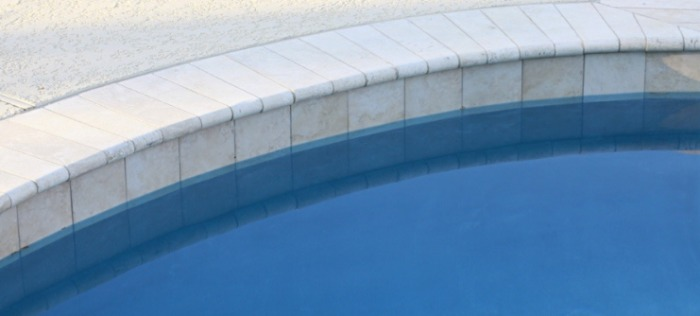 Stone Slabs in Swimming Pool Coping