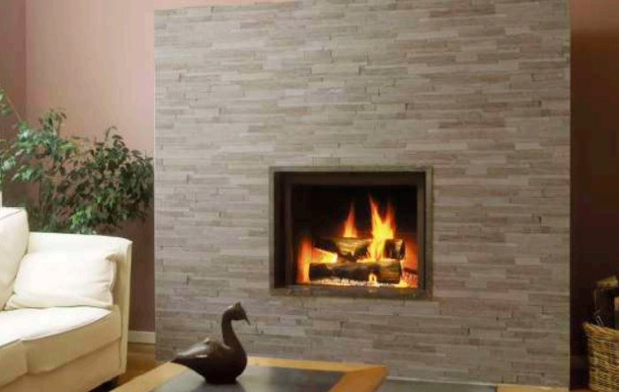 Fireplace with Ledger Panel