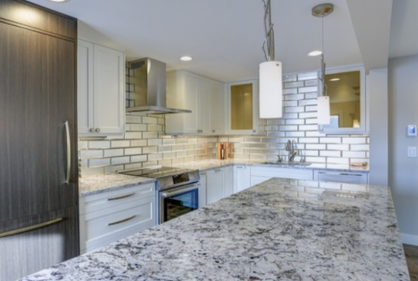 Stone Wall Cladding in Kitchen