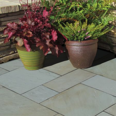 Natural Stone Pavers - Premia Collection - Desert Buff