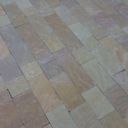 Natural Stone Pavers - Sunset Buff